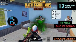 [Hindi] PUBG MOBILE | AMAZING DUO VS SQUAD MATCH & CHICKEN DINNER WITH M249