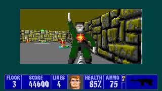 [MS-DOS] Wolfenstein 3D - Floor 3 (Episode II)