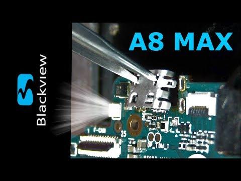 Blackview A8 Max replace micro USB / Замена разъёма зарядки