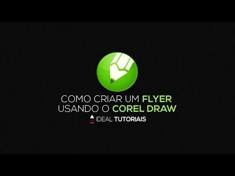 Como criar um flyer usando o corel draw