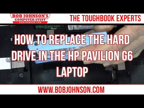 How to replace the hard drive in the HP Pavilion G6 Laptop