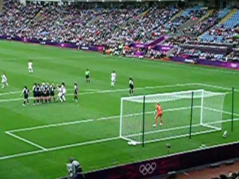 Christine Sinclair  goal GB 0 Canada 2 London 2012 Olympics