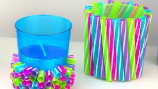 DIY Straw Crafts | Amazing Drinking Straw Ideas