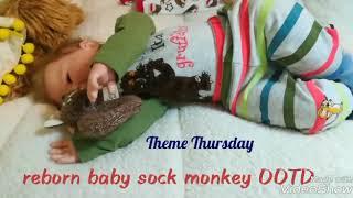 Reborn Theme Thursday Monkeys baby Harry's OOTD