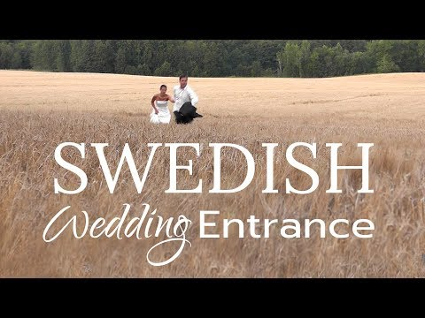 Swedish wedding entrance