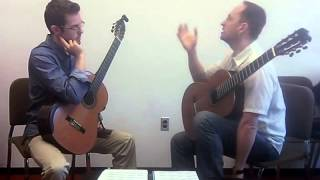 Denis Azabagic teaches Allegro solemne from La Catedral by Agustin Barrios Mangore