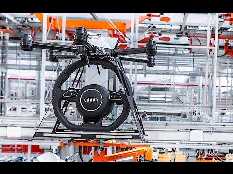 AUDI Smart Factory Is Very Star Wars Autonomous Drones + Self Driving Forklifts CARJAM TV