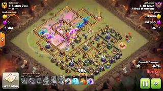 3 star war strategy TH12 with Electro Dragons + Balloons