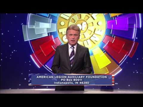 American Legion Auxiliary Foundation Pat Sajak PSA 30-second