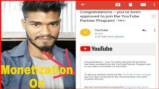 My Monetization On || Finally my YouTube Channel  monetization on hua ||