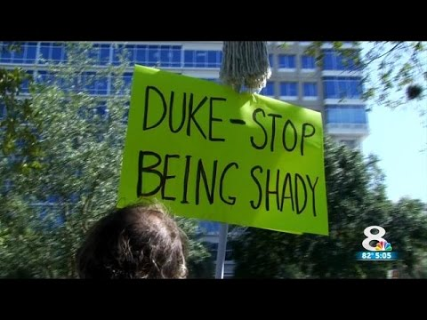 Protest against Duke Energy in St. Petersburg's Williams Park
