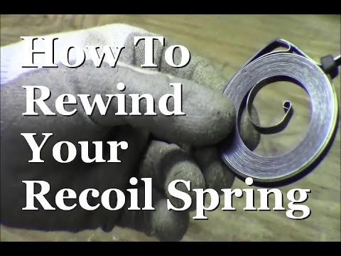 RicksDIY How To Rewind Recoil Pull Starter Spring Small Engine Coil Start