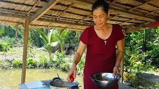 Mẹ nấu cá cam kho cà ăn với rau sạch nhà trồng | Món Ngon Mẹ Nấu