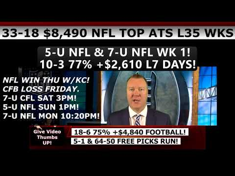 FREE NFL PICKS WEEK 1 – Expert NFL Predictions Against the Spread Vernon Croy 9/10/17