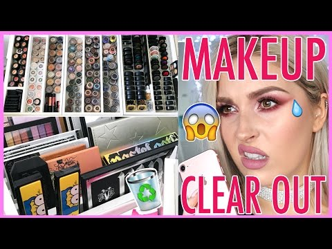 Colorful Palettes & Single Eyeshadows 🔪😱 ORGANIZE AND DECLUTTER MY MAKEUP COLLECTION! 😏