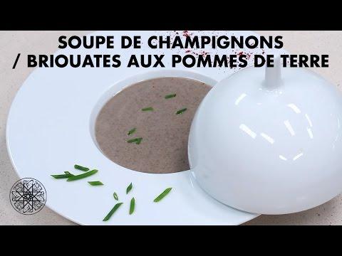 Choumicha : soupe de champignons, Briouates aux pommes de terre شميشة : شربة بالفطر الأبيض