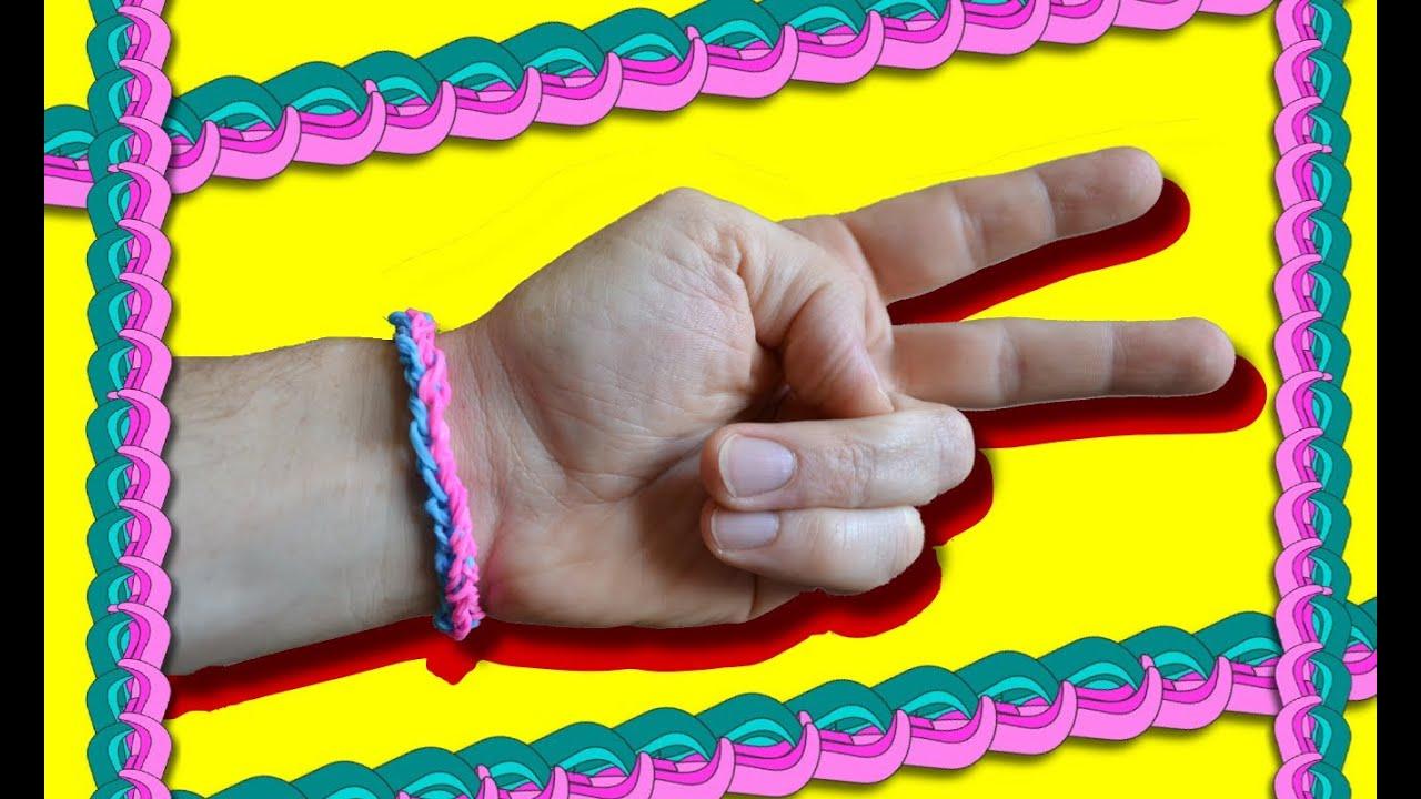 comment faire des bracelets avec des lastiques double rainbow loom youtube. Black Bedroom Furniture Sets. Home Design Ideas