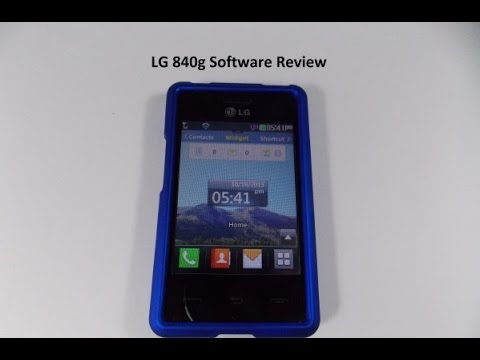 LG 840g Software Review (UPDATED)