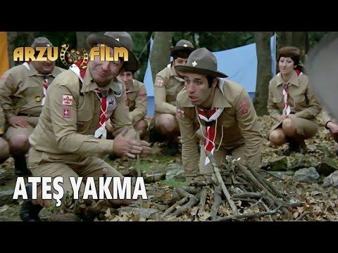 Eski Filmler - Hababam Sınıfı Tatilde - Ateş Yakma