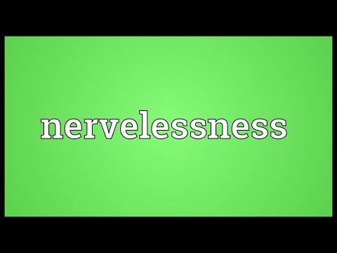 Header of nervelessness