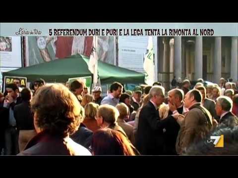 Servizio sui cinque referendum della Lega Nord da L'Aria che Tira (la7)