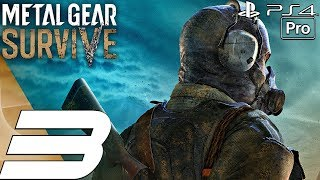 Metal Gear Survive - Gameplay Walkthrough Part 3 - Wormhole Digger (Full Game) PS4 PRO