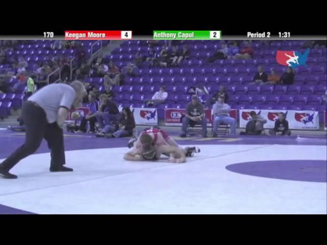 Cadet 170 - Keegan Moore (Flat Earth Wrestling) vs. Anthony Capul (Team Kansas)