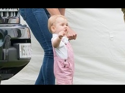 Prince George Takes His First Steps