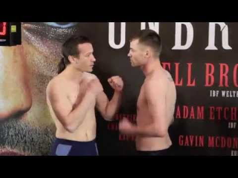 FRANKIE GAVIN v BOGDAN MITIC - OFFICIAL WEIGH IN VIDEO FROM SHEFFIELD - 'UNBREAKABLE'
