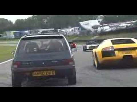 205 In Flames Chasing Lambo Youtube