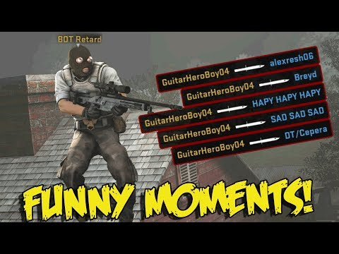 CS:GO SILVER FUNNY MOMENTS - THE WORLDS FIRST BOT 360 NO SCOPE, KNIFE ACE (FUNNY MOMENTS)