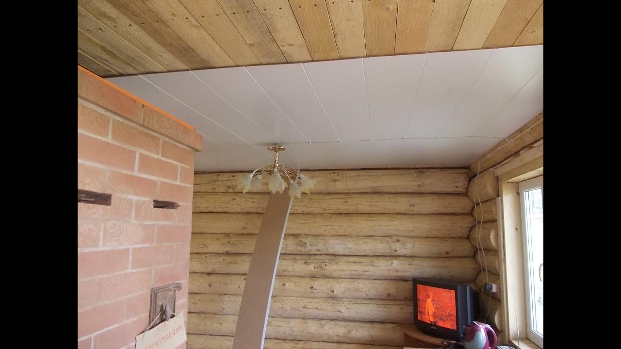 Как сделать потолок из евровагонки? Конструкция 89