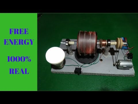 How to Make Free Energy Generator Light Bulb With Magnet 12v Powerful Motor Easy Project  2018 thumbnail