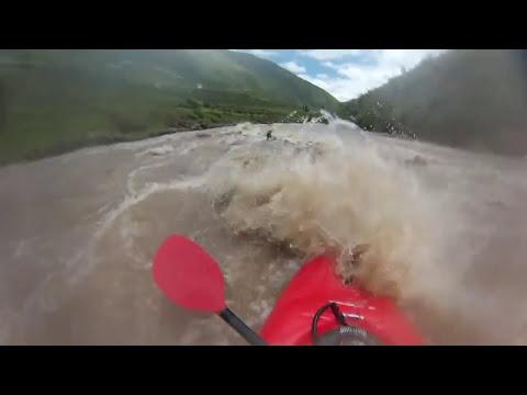 Kayak Urubamba River in cusco peru