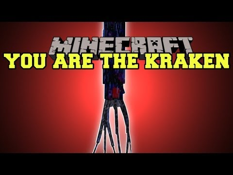 Minecraft : YOU ARE THE KRAKEN! (MORPH INTO BOSSES AND MOBS) Morph Mod Showcase