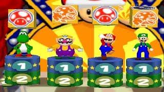 Mario Party 2 - 4 Player Minigames - Yoshi Wario Mario Luigi All Funny Minigames (Master CPU)