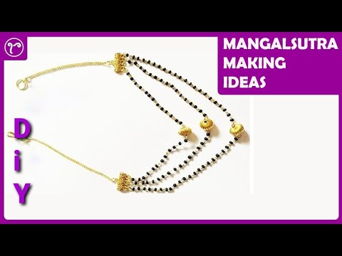 Three Layered Short Mangalsutra Making | Janhavi Mangalsutra DIY | Jewelry Making Tutorials