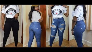 FASHION NOVA VS TOPSHOP JEANS FOR TALL AND CURVY GIRLS