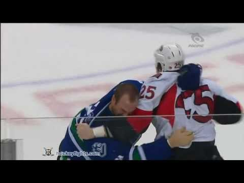 Chris Neil vs Aaron Rome Feb 7, 2011