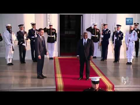 DR Congo President Joseph Kabila  arrives at the White House Diner