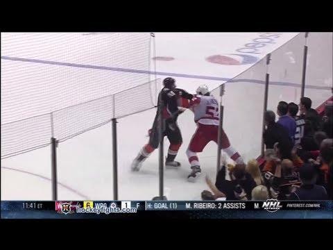 Jonathan Ericsson vs Ryan Getzlaf Mar 22, 2013