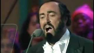 Luciano Pavarotti Video - Luciano Pavarotti & Friends were singing for Liberia