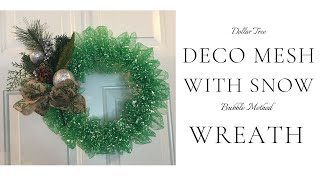 How to make a Bubble Method Deco Mesh DIY Wreath