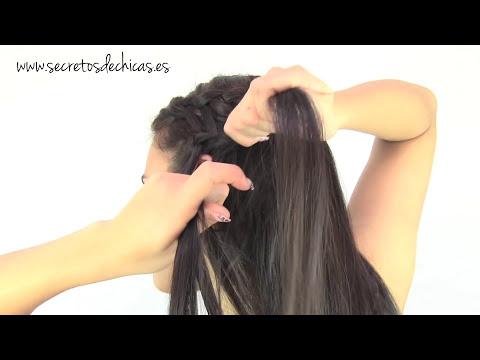Peinados de trenzas de cascada