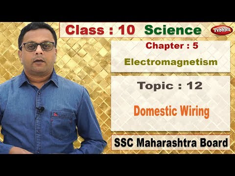 Class 10 | Science | Chapter 05 | Electromagnetism | Topic 12 Domestic Wiring thumbnail