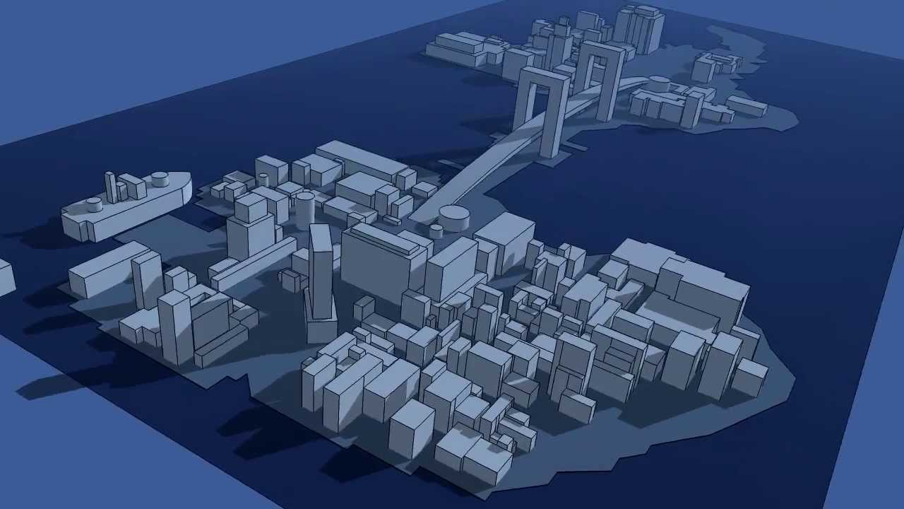 Fly Over Batman Arkham Origins Gotham City 3d Model Youtube