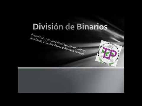 TUTORIAL DE DIVISION DE BINARIOS