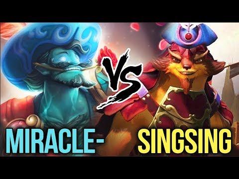 Miracle- Storm Spirit ft. Matumbaman vs Singsing Try Hard Game - Dota 2