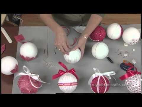 Как сделать новогодний шар ютуб