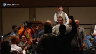 Opponents, supporters square off during Richard Spencer speech at Texas A&M